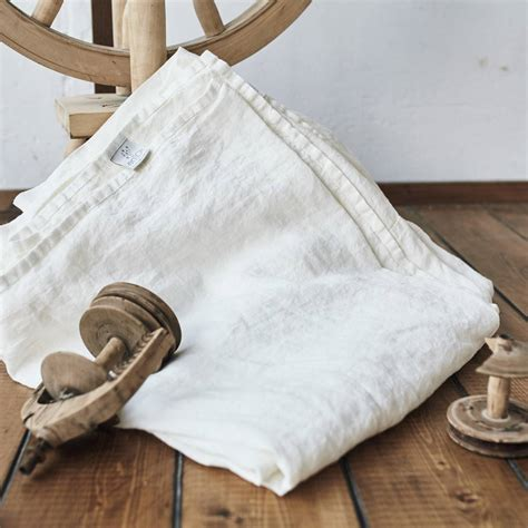 Antique White Linen Flat Sheet Lenok