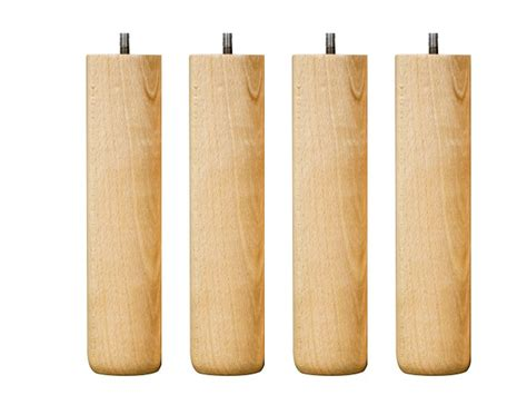 pied de lit 25 cm 4 pieds de lit cylindriques 25 cm vernis naturel h 234 tre
