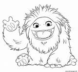 Coloring Yeti Pages Animation Abominable Printable Print Popular sketch template