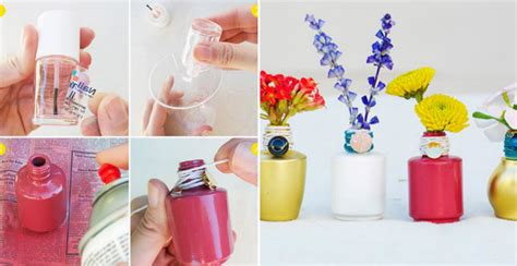 nail polish bottle vase diy crafts