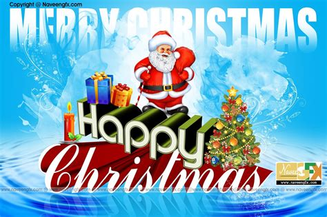 happy christmas  poster psd template  downloads