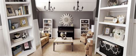 Bookcase Room by Studio 7 Interior Design How To Stage A Bookcase