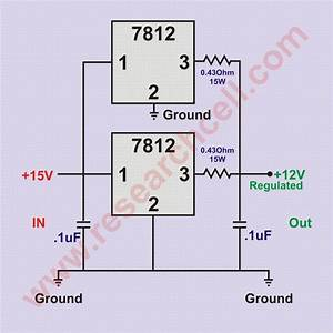 Circuit Diagram Of 7812 Voltage Regulator