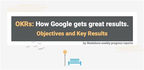 google    okrs infographic weekdone