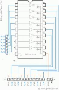 Gertboard Open Collector Drivers  Uln2803apg