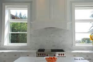 Marble Subway Tile Kitchen Backsplash Marble Subway Tile Transitional Kitchen Stay At Homeista