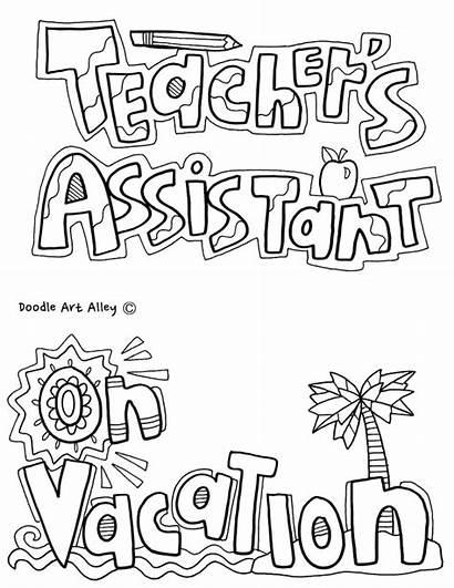 Classroom Jobs Coloring Class Printables Doodles Assistant