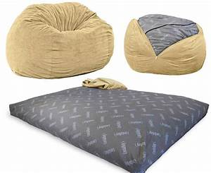 a full size bed that pulls out of a bean bag chair With bean bag chair with bed inside