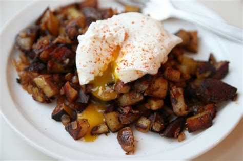 fries recipe dinner tonight paprika spiked home fries with poached egg Home