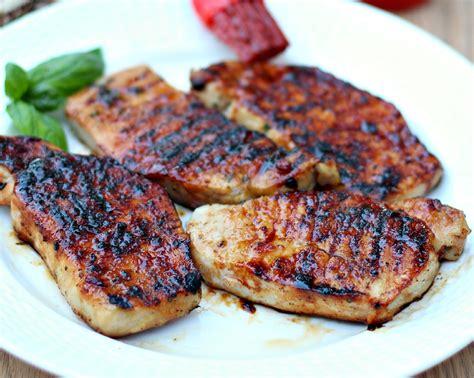 grilled pork chops glazed grilled pork chops