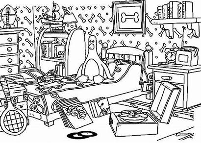 Messy Coloring Pages Gromit Wallace Tocolor