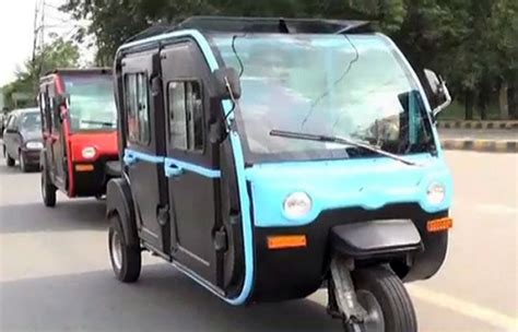 Air-conditioned Rickshaws Launched In Lahore