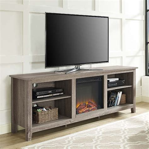 70 tv stand with fireplace walker edison 70 inch tv stand with electric fireplace ash