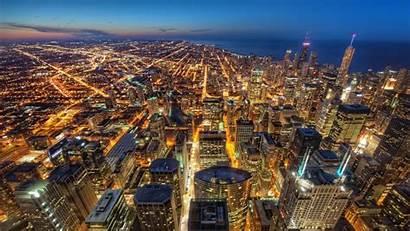 4k Hdr Night Chicago Usa 1080p Lights