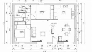 plan de maison 2 chambres plan de maison de plainpied With plan maison 80m2 plein pied