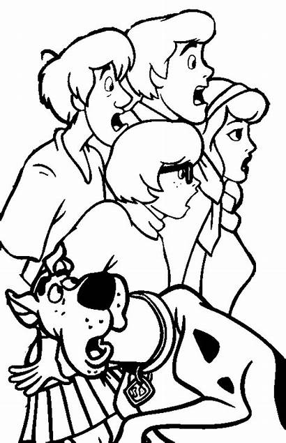 Scooby Doo Coloring Pages Shaggy Velma Daphne