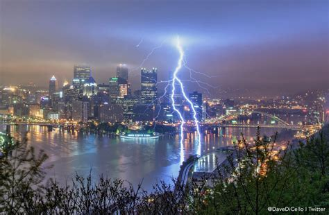washington post features lightning shot  pittsburgh