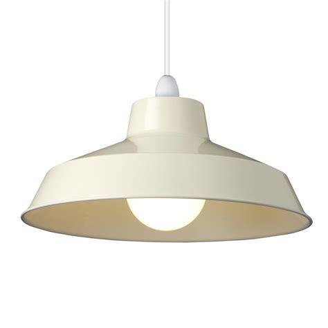 small dual fitting pluto metal lighting pendant shades cream