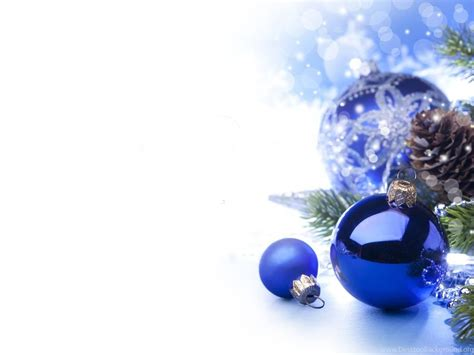 blue christmas ornaments christmas wallpapers desktop