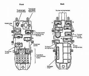Eagle Summit  1992  - Fuse Box Diagram
