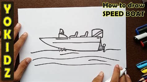 How To Draw A Speedboat Easy by Best 25 Boat Drawing Ideas On Pinterest Boat Drawing