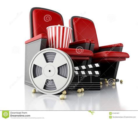 siege de cinema bobine de 3d maïs éclaté et panneau de clapet de