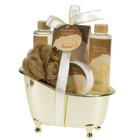 gift set meadow bath gift set in wicker white basket