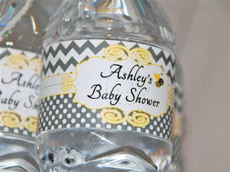 printable water bottle labels for baby shower bumble bee baby shower water bottle labels by