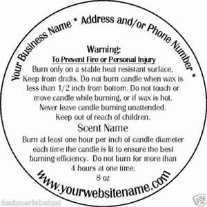 personalized candle warning labels three sizes With candle safety labels