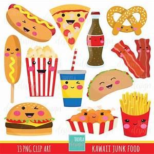 junk food clipart, fast food clipart, kawaii clipart ...