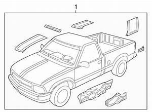 Chevrolet S10 Tape  Stripe  Door  Xtreme  Right
