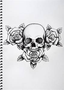 Skull and Roses Tattoo - Nick Davis | Artist | Art 224 ...