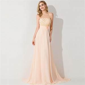 light orange beaded long chiffon bridesmaid dresses 2015 With wedding maid of honor dresses