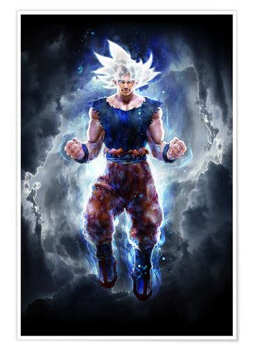 Ultra Instinct Goku master Poster Posters and Prints