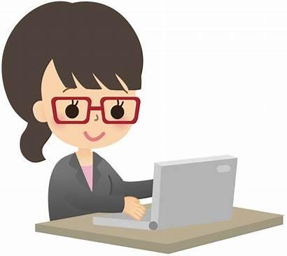 User Computer Clip Laptop Clipart Female Professional