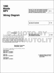 1990 Mazda Mpv Wiring Diagram Manual Original All 3 0