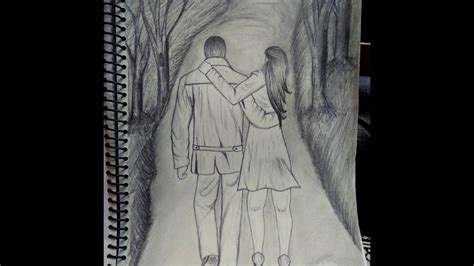 draw  romantic couple holding hands youtube