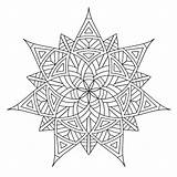 Coloring Geometric Pages Printable Adults sketch template