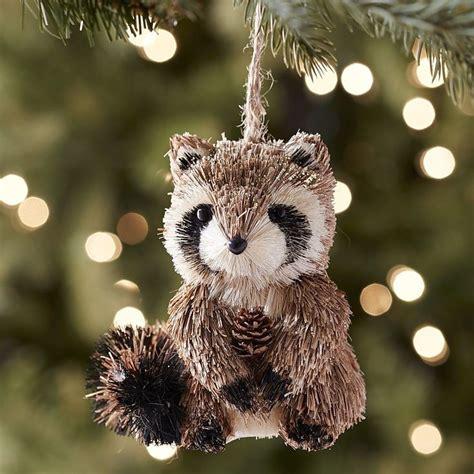 pier  natural raccoon ornament holidays pinterest