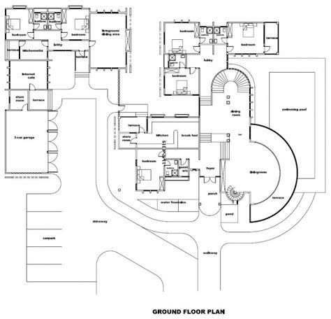 elegant luxury floor plans   homes  home plans