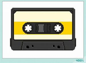 yesadvs: Learn to draw a cassette pixel graphic