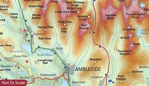 Lake District: Topographical Map of the Wainwright Fells