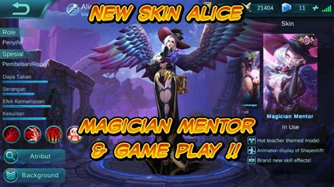 New Skin Alice Magician Mentor & Game Play