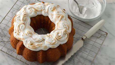 sweet potato bundt cake  toasted marshmallow topper