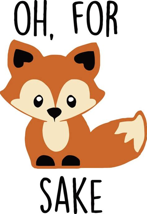 From wikimedia commons, the free media repository. Oh For Fox Sake Color SVG Digital Download Files