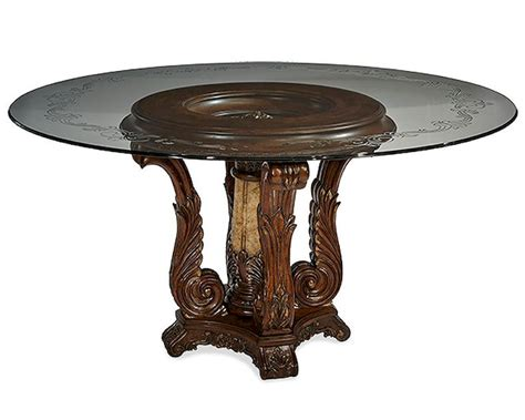 Aico Victoria Palace Round Glass Top Dining Table Ai6100129