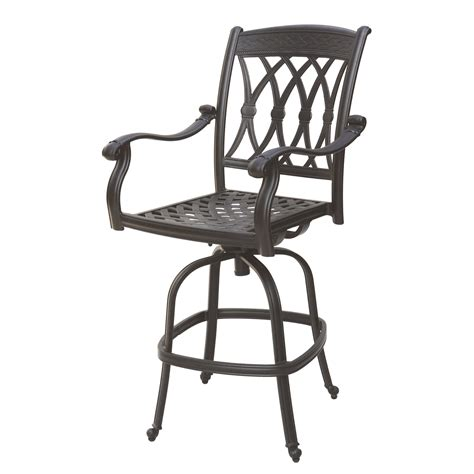 darlee san marcos outdoor counter height swivel bar stool