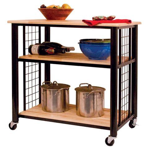 Catskill Craftsmen Contemporary Black Kitchen Cart80047