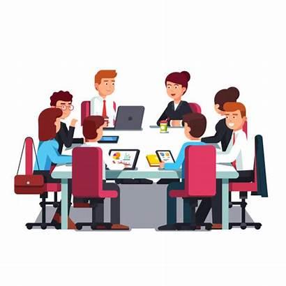 Meeting Board Directors Clipart Conference Vector Desk