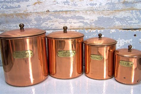 kitchen flour canisters vintage copper canisters kitchen containers coffee flour